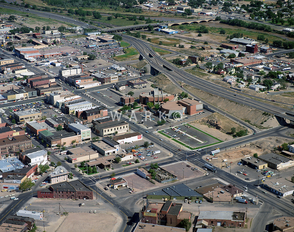 1990 circa aerial of Pueblo, CO