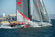 Artemis Racing Red. Day four of the America's Cup World Series, San Francisco. 6/10/2012
