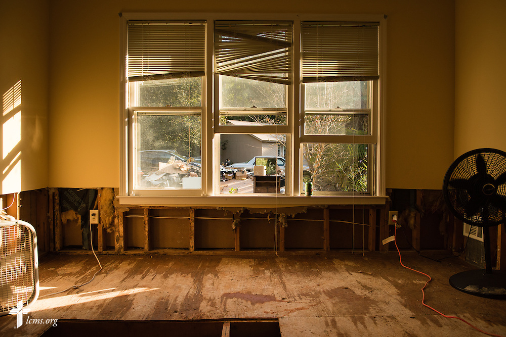 Fans dry a flood-damaged home on Thursday, Oct. 8, 2015, in Irmo, S.C. LCMS Communications/Erik M. Lunsford