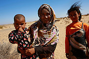 Local Western Saharans are pictured during a routine patrol in Mehaires by the United Nations Mission for the Referendum in Western Sahara (MINURSO)..17 June 2010