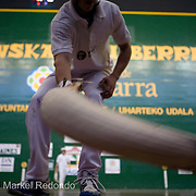 Jai alai players in Pamplona,  Spain.