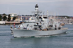 AUG 13 2013 Westminster leaves Portsmouth Naval Base