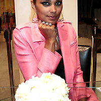 Rachel Roy poses with one of her rings during her  Spring.2010 Collection at Macy's Herald Square on April 1, 2010 .