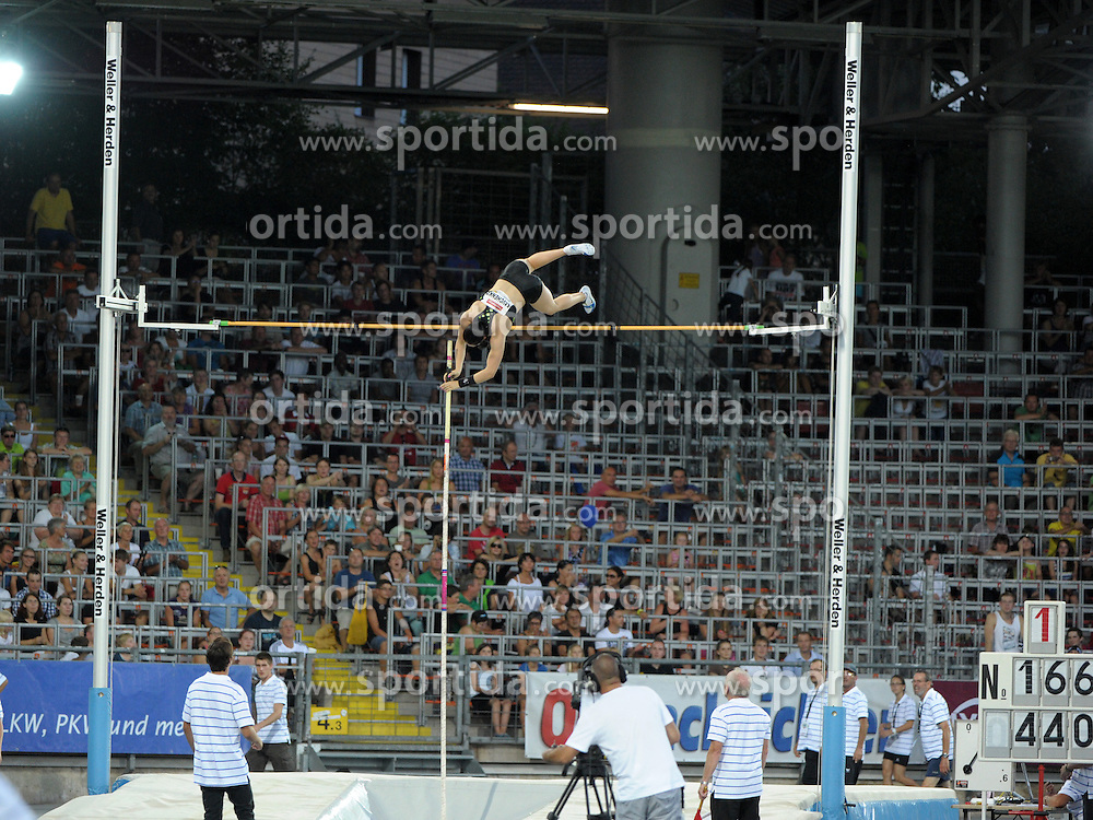 20.08.2012, Stadion der Stadt Linz, AUT, 1. Gugl Games, Stabhochsprung der Frauen, im Bild Anastasia Savchenko (#166, RUS) // during woman pole vault of 1st Gugl Games at Stadion der Stadt Linz, Linz Donau, Austria on 2012/08/19, EXPA Pictures © 2012, PhotoCredit: EXPA/ Reinhard Eisenbauer