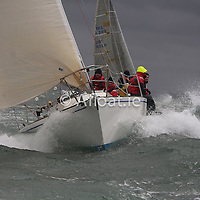 A windy start on Dublin Bay for a record breaking run to Dingle over the 280-mile course