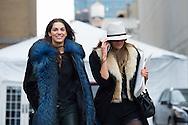 Samantha Gradoville and Valentina Zelyaeva at Ralph Lauren FW2015