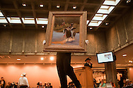 The Russell, C.M. Russell Museum Sale, Great Falls, Montana, 2011, Silent Approach by Joe Netherwood, $4500