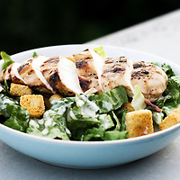 Chicken Cesar Salad with BBQ organic chicken, kos lettuce and Parmesan