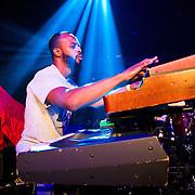 """Tauk performing at the Parish, Austin, Texas, October 23, 2014. Tauk consists of Matt Jalbert (Guitar), Charlie Dolan (Bass), Alric """"A.C."""" Carter (Keyboard-Organ), and Isaac Teel (Drums)."""