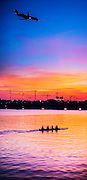 Wahhington Harbor construction at sunrise