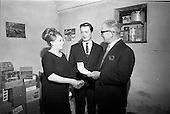 1966 - Presentation of Capital Tea Cheque to Mr and Mrs Mullin