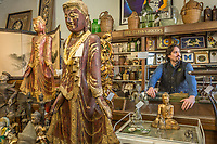 """Adventurer, collector and wine maker Mario Sculatti works at Rome Antiques in downtown Calistoga """"The purpose of me on this planet, as guided by our life force energy is to embrace the natural and elegant wonders of the world and to gratefully share them with others...I wrote this at a Tony Robins workshop."""""""