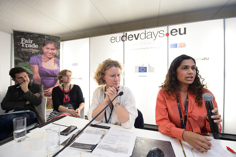 03 June 2015 - Belgium - Brussels - European Development Days - EDD - Trade - Empowering smallholders participation in global supply chains - Shivani Reddy , Policy officer - Judith Sargentini - Member of EP © European Union