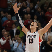 Kelly Olynyk celebrates victory over Saint Mary's.
