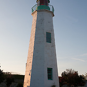 Old Point Comfort Lighthouse at Fort Monroe, Hampton, Virginia built in 1802