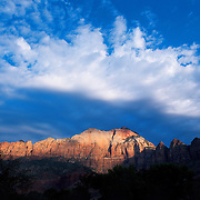 Sunrise at East Temple in Zion National Park