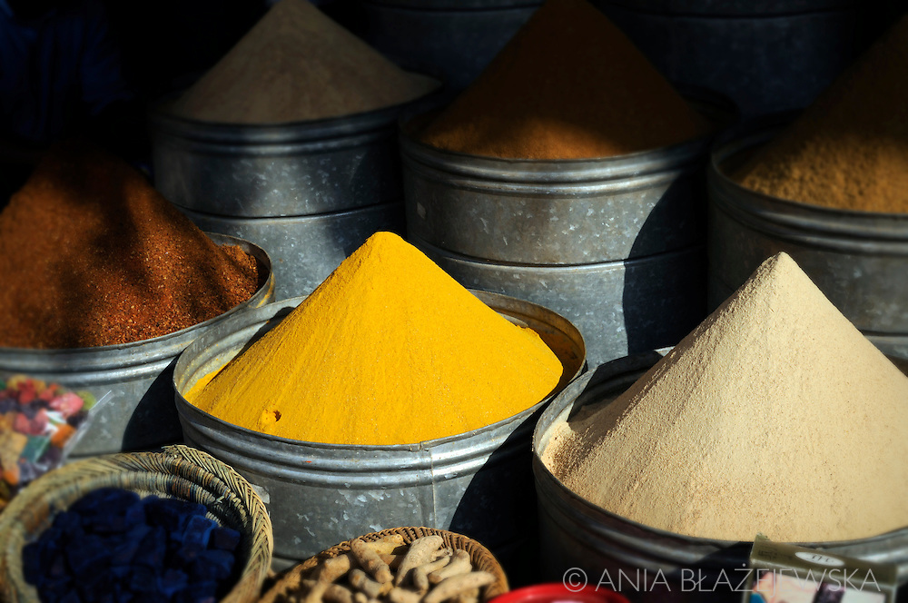 Morocco, Marrakesh. Spices from the souk.