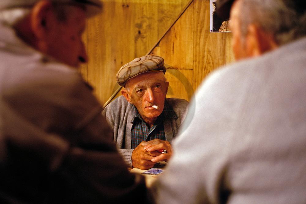13/09/04 - BRION - CANTAL - FRANCE - Discussion sur la vente de bovins a  la foire de Brion - Photo Jerome CHABANNE