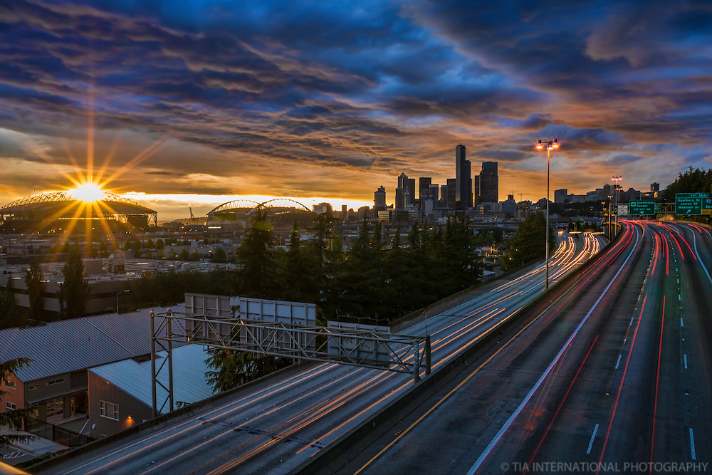 Evening Dusk in Seattle