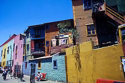 Buenos Aires, Argentina. 11/95..Caminito. Casas coloridas, bairro turistico e popular de Buenos Aires. / Coloured houses of Caminito, a popular and touristic borough of Buenos Aires city..Foto © Marcos Issa/Argosfoto