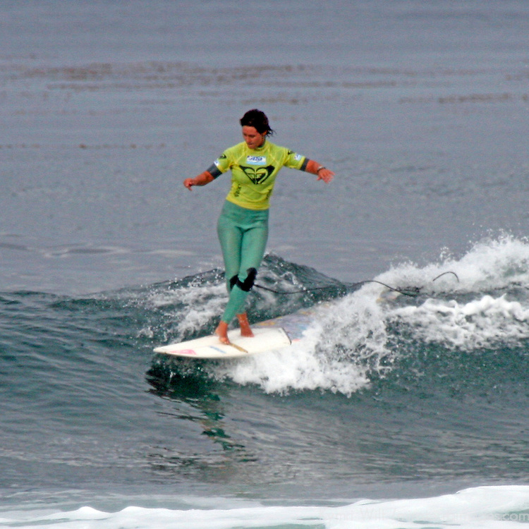 Kassia Meador, quarter finalist at the 3rd Annual Roxy Jam Linda Benson Women's World Longboard Professional, 2008, Cardiff by the Sea, California.