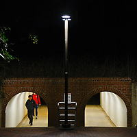 Students make their way to the Talley Student Union through a tunnel. Photo by Marc Hall
