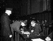 1952 Ninety Garda recruits being sworn in at the Garda Depot