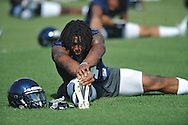Ole Miss' Brandon Bolden (34) stretches during football practice in Oxford, Miss. on Sunday, August 7, 2011.