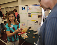 Oxford Elementary student Olivia Rychlak at a science fair at Ole Miss' IPF in Oxford, Miss. on Wednesday, March 24, 2010. Ole Miss won 90-87 in triple overtime.