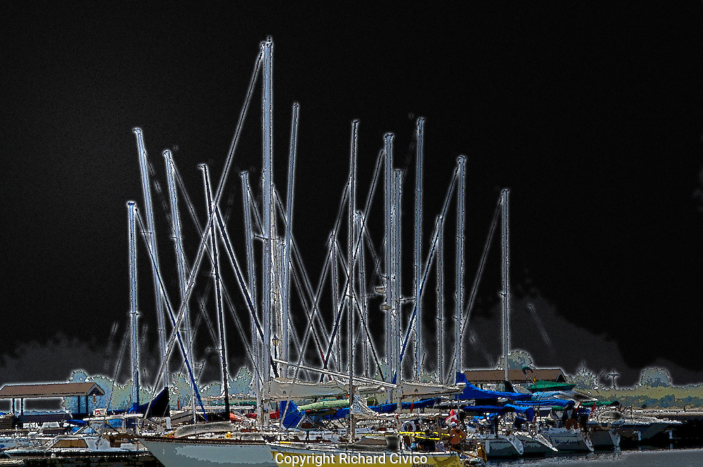 Glowing Masts