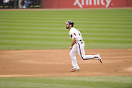 CHICAGO - APRIL 30:  Adam Eaton #1 of the Chicago White Sox runs the bases against the Detroit Tigers on April 30, 2014 at U.S. Cellular Field in Chicago, Illinois.  (Photo by Ron Vesely)