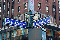 street signs in New york City in October 2008