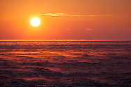 Steaming sea off the coast of the Black Sea port of Novorossiysk.
