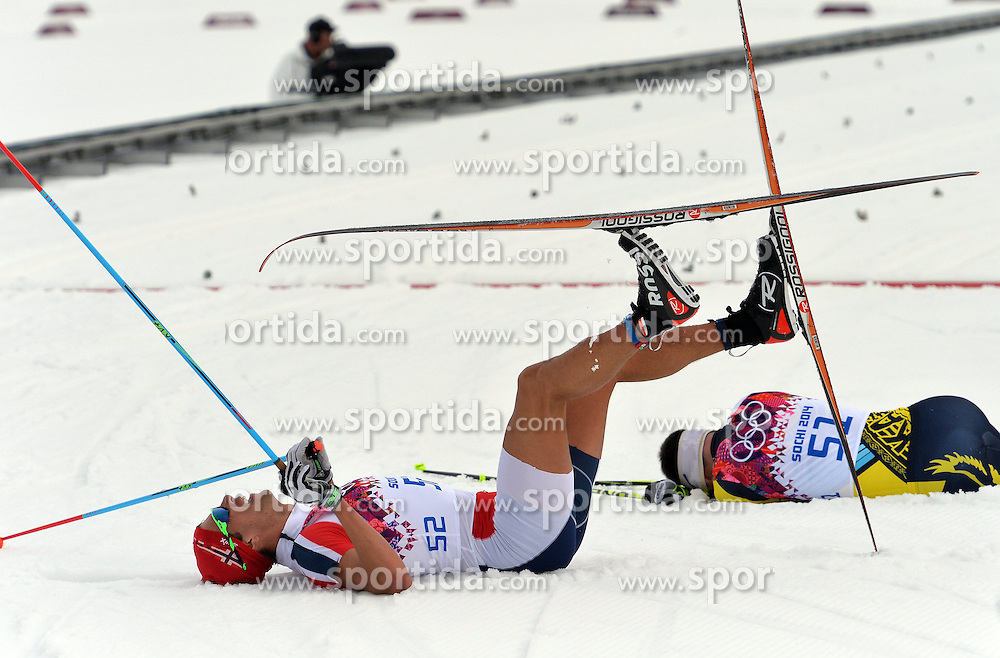 14.02.2014, Laura Cross-country Ski &amp; Biathlon Center, Krasnaya Polyana, RUS, Sochi, 2014, Herren Langlauf 15km, Classic, im Bild ANDRE CHRIS JESPERSEN NORWAY // ANDRE CHRIS JESPERSEN NORWAY during Mens Cross Country 15km Classic Race of the Olympic Winter Games Sochi 2014 at the Laura Cross-country Ski &amp; Biathlon Center in Krasnaya Polyana, Russia on 2014/02/14. EXPA Pictures &copy; 2014, PhotoCredit: EXPA/ Newspix/ TOMASZ JAGODZINSKI<br /> <br /> *****ATTENTION - for AUT, SLO, CRO, SRB, BIH, MAZ, TUR, SUI, SWE only*****