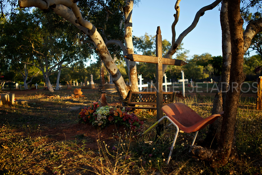 Broome has two cemeteries next to each other, one is the Japanese cemetery and this is the local (Aboriginal) Cemetery. The Japanese cemetery is nowadays a tourist attraction but this local cemetery is unique on it's own. Every grave seems very personal.<br />