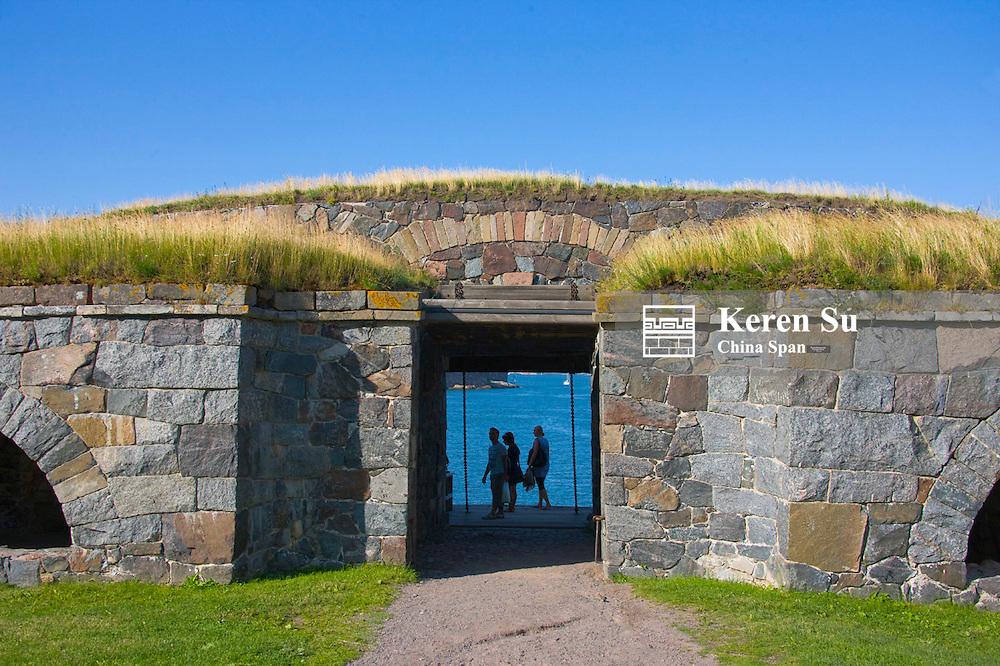 Entrance to Suomenlinna Fortress (Unesco World Heritage site), Helsinki, Finland