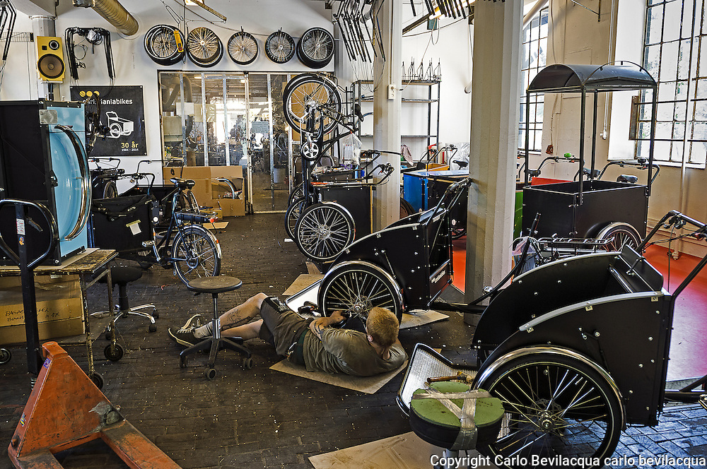 The workshops of Christiania Bikes produced bikes from more than ...