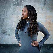 Portrait of actress, Caroline Mgata.