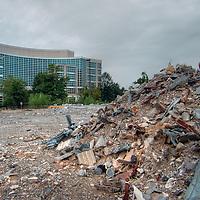Debris from demolished building