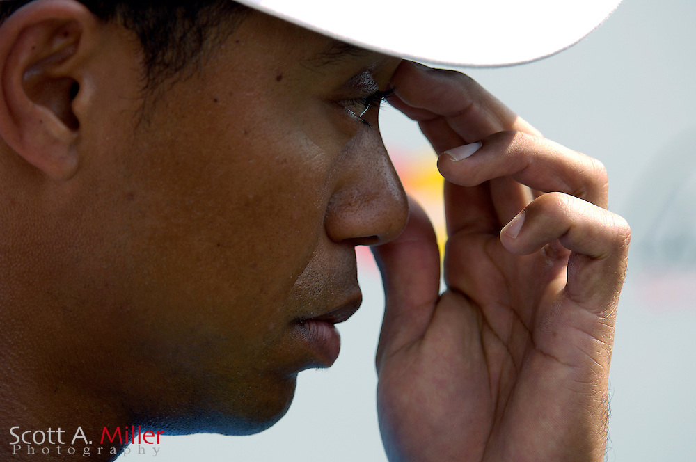 Tiger Woods speaks to the media during the Arnold Palmer Invitational at Bay Hill Club & Lodge on March 14, 2007 in Orlando, Fl..© 2007 Scott A. Miller
