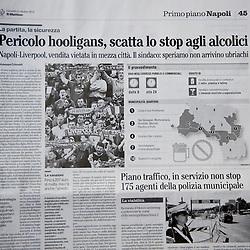 101021 Napoli Newspaper