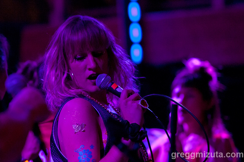 G1RLCR3W's Bronwyn Leslie at the Visual Arts Collective.<br /> <br /> Mostly Muff and G1RLCR3W performed  at the Visual Arts Collective in Garden City, Idaho, February 13, 2016. The event benefited the Erin Cunningham Medical and Well-Being Fund.