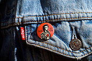 Sid Vicious badge on a Levi's denim jacket - 1990