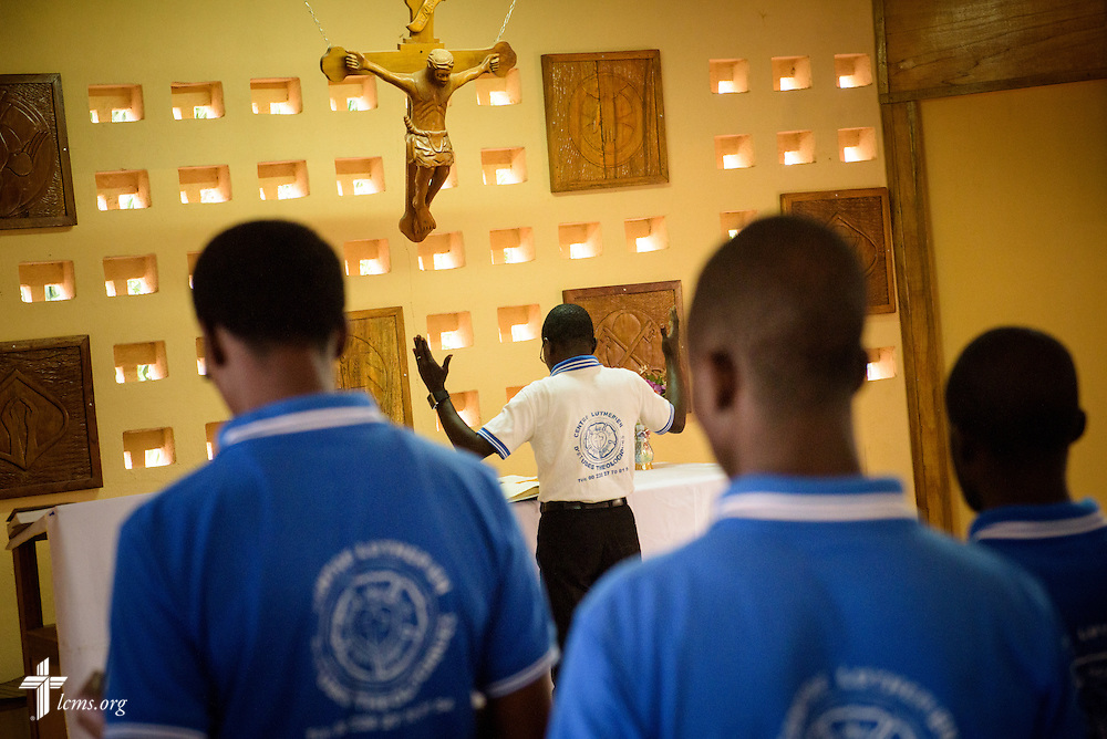 Vespers at the Lutheran Center for Theological Studies (CLET) on Wednesday, Feb. 15, 2017, in Dapaong, Togo. LCMS Communications/Erik M. Lunsford