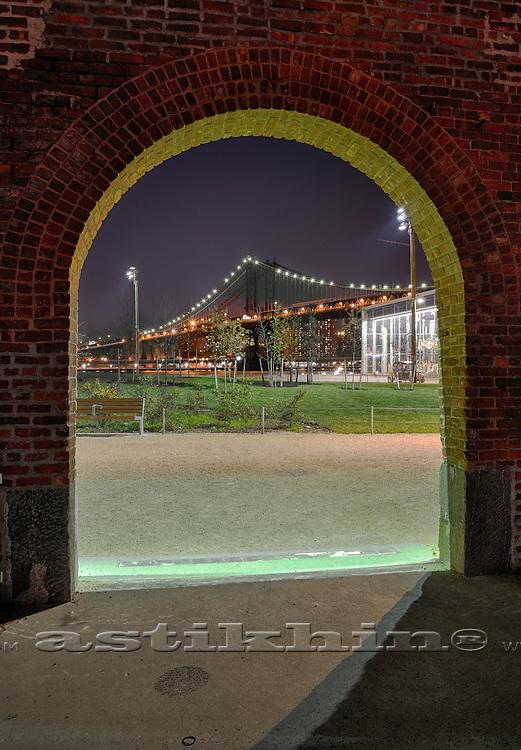 Manhattan Bridge from Brooklyn.