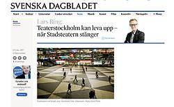 Svenska Dagbladet, Sweden; Central Stockholm at night