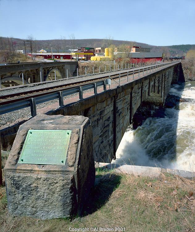 Fitchburg RR Bridge (1899) over Connecticut River at Bellows Falls, VT