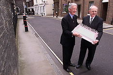 AUG 4 2000 Greggs Directors with Queen Mother's Birthday Cake
