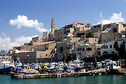 Old Jaffa Port, Tel Aviv, Israel is now used as a fishing harbour and tourist attraction