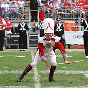2006 NCAA Football: Ohio State v Cincinnati. Freshman Drum Major, Stewart Kitchen, performs during the Ohio State vs. Cincinnati football game.<br /> Photo by Bryan Rinnert